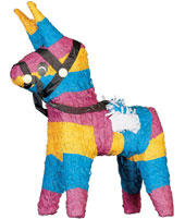 Bash the Pinata at your birthday bash from just 11.95 or find pin the tail on the donkey and other party games.  Choose your loot bags and fill them from our range of value pocket money toys