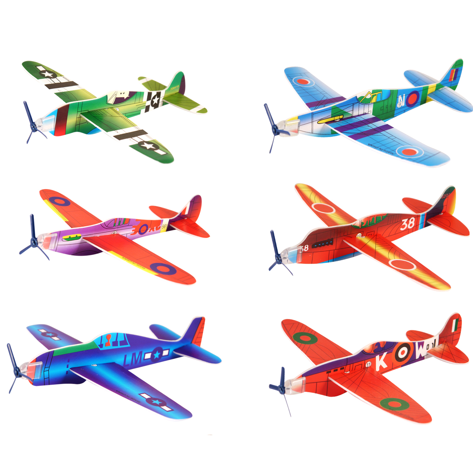 Simply slot the pieces together and they are ready to fly.  Assorted models in individual envelopes.  Length 18cm.