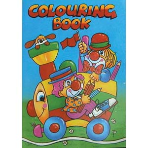 Mini A6 size colouring book, suitable for the very young.  Book length 15cm.
