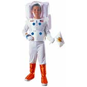 Astronaut Costume, includes helmet, jumpsuit with boot tops, vest, inflatable tank, gloves and flag.