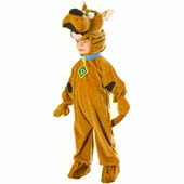 Deluxe Scooby Doo Costume, includes velour headpiece with attached jumpsuit.