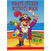 A6 Pirate Mini Sticker Activity Book. Includes stickers, dot to dot, word searches, puzzles and colouring pages.
