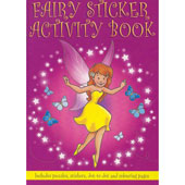 Fairy mini sticker activity book. Includes stickers, dot to dot, word searches, puzzles and colouring pages. Great party bag item.