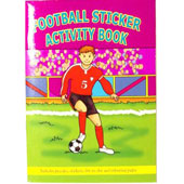 A6 Football Mini Sticker Activity Book. Includes stickers, dot to dot, word searches, puzzles and colouring pages.