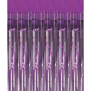 Purple Metallic Curtain 2.4m * 91.4cm.