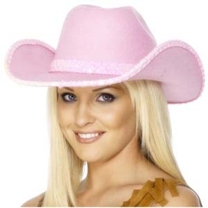 Pink Cowboy Hat Sequin Trim