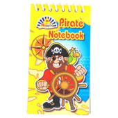 Assorted Pirate notebooks in flip pad style with plain white unruled paper.