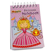 Assorted Princess notebooks in flip pad style with plain white unruled paper.