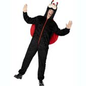 Adult Male Lady Bug Costume, includes jumpsuit with hood.