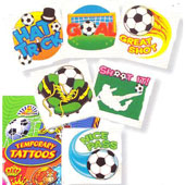 Football Mini Tattoos .  5cm * 5cm.  Assortment of 6 Designs.