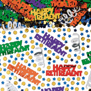 Happy Retirement Metallic Confetti Mix.