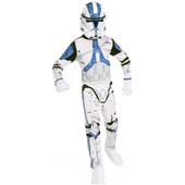 Star Wars Clone Trooper Costume.  Includes PVC Mask and jumpsuit with attached boot tops.