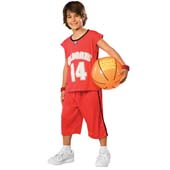 High School Musical Troy Championship Game Costume, includes shorts, jersey and inflatable basketball.