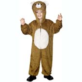 Child Plush Velour Bear Costume with Hood