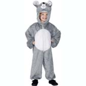 Child Plush Velour Mouse Costume with Hood