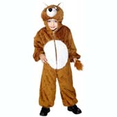 Child Plush Velour Fox Costume with Hood