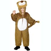 Child Plush Velour Lion Costume with Hood