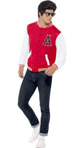 50s College Jock Letterman Jacket  Add to a pair of jeans and trainers and you are sure to be the coolest kid on campus.
