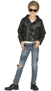 Boys 1950s Leather Look Jacket