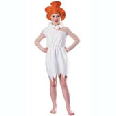 Wilma Flintstone Costume, includes headpiece, necklace and dress.