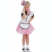 Soda Pop Girl Costume, includes cap, dress and apron.