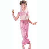 Harem Girl Costume, includes headpiece with veil and jumpsuit with covered midriff.