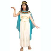Cleopatra Costume, includes dress with attached cape, collar and headpiece.