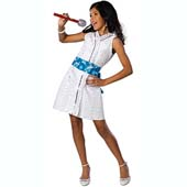 High School Musical Gabriella Star Dazzler Outfit.  Includes dress with attached bow and necklace.