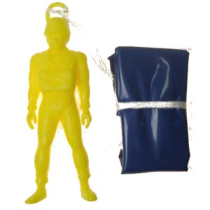 Skydiver Plastic Daredevil Parachutist.  Individually packaged.  Available in an assortment of colours.  Parachute man length 10cm. Pack size 16cm * 8.75cm.