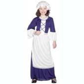 Colonial Girl Costume, includes dress, hat and apron.