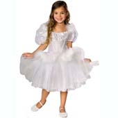 Swan Lake Ballerina Costume, includes dress and musical sound box.  Musical sound box is placed inside the underskirt pocket to play music as you dance.