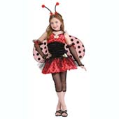 Tween Size Lady Bug Costume, includes dress, wings, leggings, glovelets, choker and headpiece.