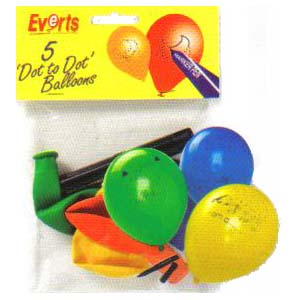 Dot to Dot Balloons & Marker