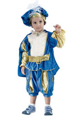 Child Prince Costume, includes shirt, pants, cape and hat.