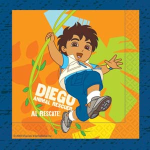 Go Diego Go Luncheon Napkins, 3 ply