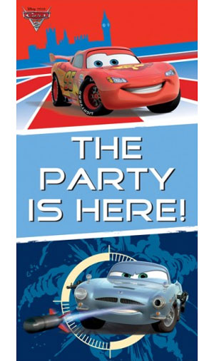 Cars Party Here Door Sign