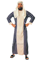 Adult Sheik Costume, includes robe and headpiece.