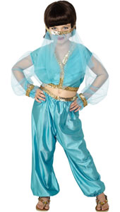 Arabian Princess Costume, includes trousers, top and headpiece.
