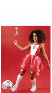 Arsenal FC Football Fairy, includes dress with crest, detachable wings, cape and wand.