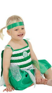 Baby Celtic Football Fairy, includes dress with embroidered crest, detachable wings, embroidered cape and headband.