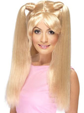 Baby Power Wig. Blonde with pony tails.