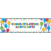 Personalise Giant Sign Banner. Co-ordinating Stickers Included. 1.65m * 50.8cm.