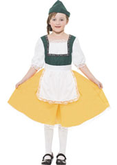 Bavarian Girls Costume includes dress and hat.