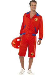 Baywatch Beach Costume, includes jacket and long shorts.