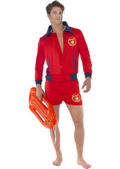 Baywatch Lifeguard Costume, includes top and shorts. FLOAT SOLD SEPARATELY.