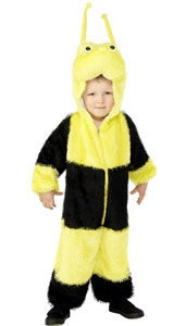Child Plush Velour Bee Costume with Hood