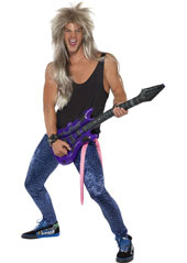 Bon Rocker Costume, includes vest, trousers and sash. WIG SOLD SEPARATELY.