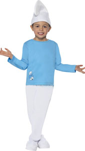 Boy Smurf Costume, includes top, trousers and hat.