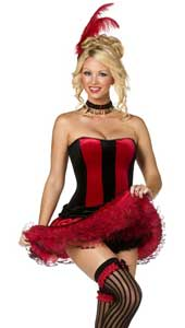Can Can Sweetie Costume, includes corset, tutu, hair clip, garters and choker.