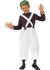 Oompa Loompa Candy Creator Child Costume includes top and trousers.